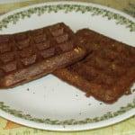 eggless dairy-free carrot ginger sage vegan waffles, square