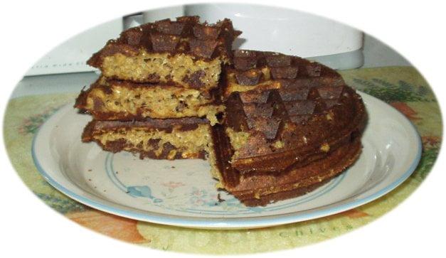 cheddar cheesy vegan waffles