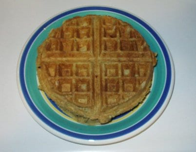 Avocado Pecan Vegan Waffles for Two