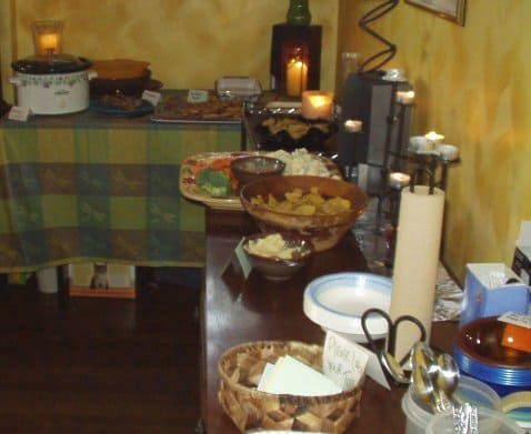 additional vegan waffle party food and toppings