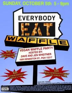 Everybody Eat Vegan Waffle Party