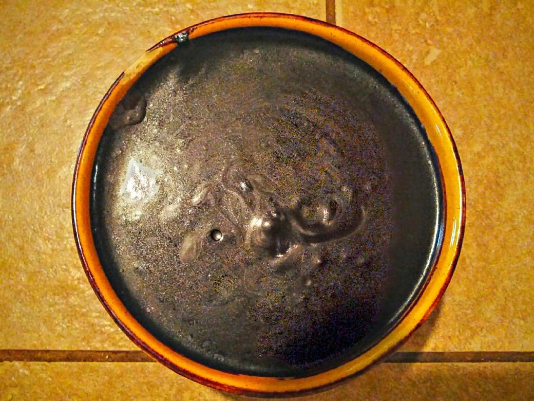 vegan deep dark chocolate waffle syrup in bowl