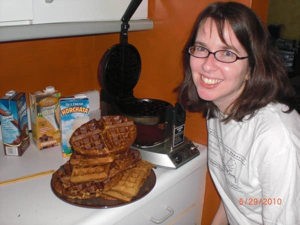 jen cooks up leftover waffles