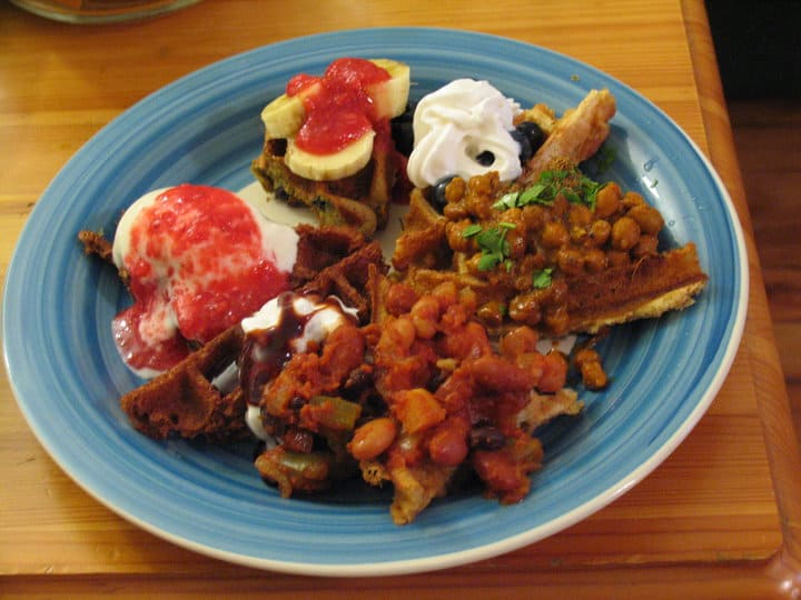 Best multi-course vegan waffle meal