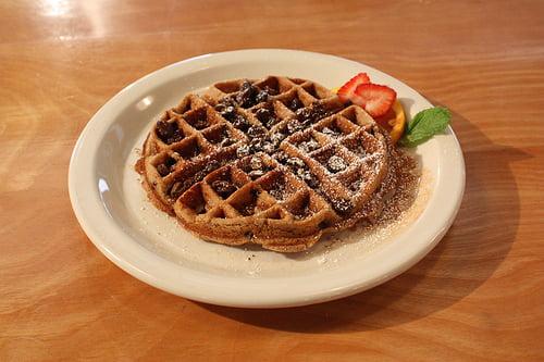 waffle shop vegan waffle
