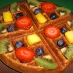 sweet yeast-raised vegan waffle recipe photo 1