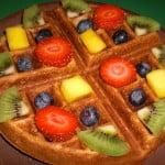 sweet yeast-raised vegan waffle recipe photo 1