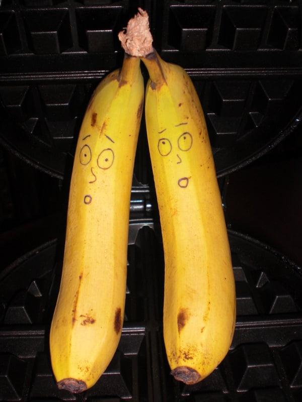 Oooh, noooo! Not a vegan banana Liege waffle!