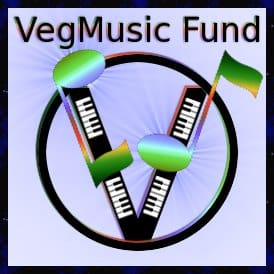 VegMusic Fund logo: for vegan and vegetarian music