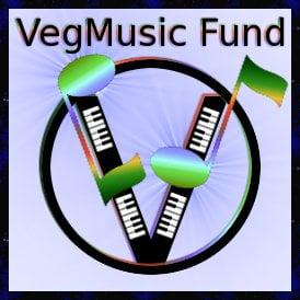 VegMusic Fund logo: for vegan and vegetarian music