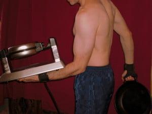 "working the waffle iron & 12"" iron pancake skillet"