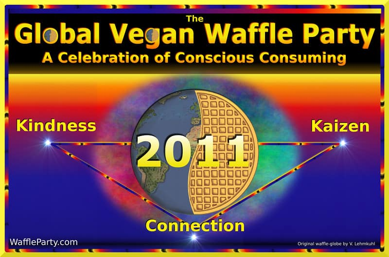Global Vegan Waffle Party poster, 800x529, 72 dpi