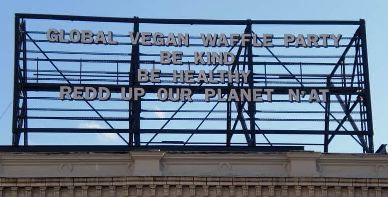 Global Vegan Waffle Party Billboard 1