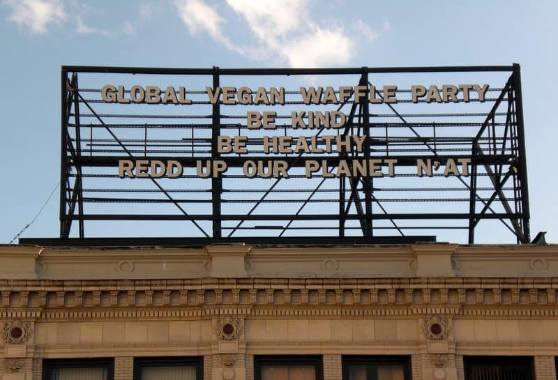 Global Vegan Waffle Party Billboard 4