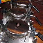 waffle irons ready for baking vegan waffles