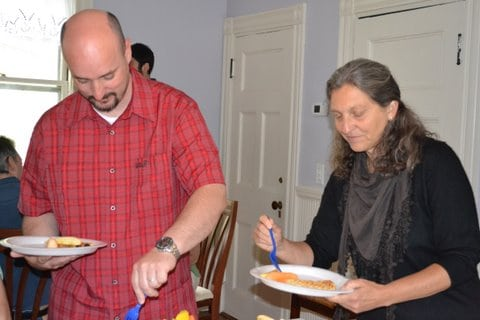 Boston vegan waffle party guests 3
