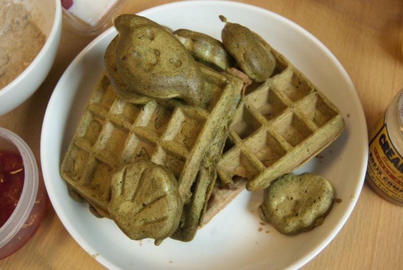 Tokyo vegan matcha waffles 2