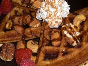 gvwc sweet yeast-raised vegan waffles
