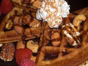 gvwc sweet yeast-raised vegan waffles