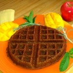 banana almond gluten-free vegan waffle recipe photo 2
