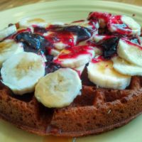 Banana-Almond Gluten-Free Vegan Waffle