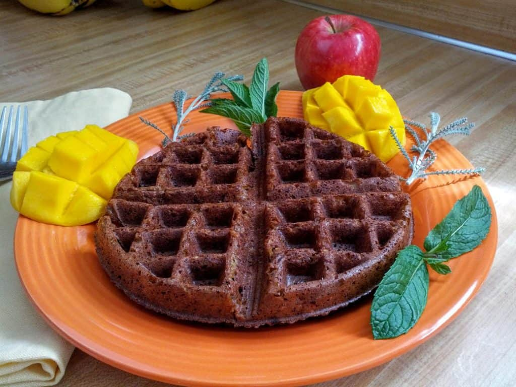 Gluten-Free Vegan Banana Almond Waffle