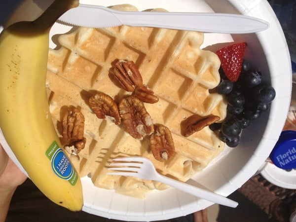 Vegas Veg Vegan waffle, courtesy of Elaine Vigneault