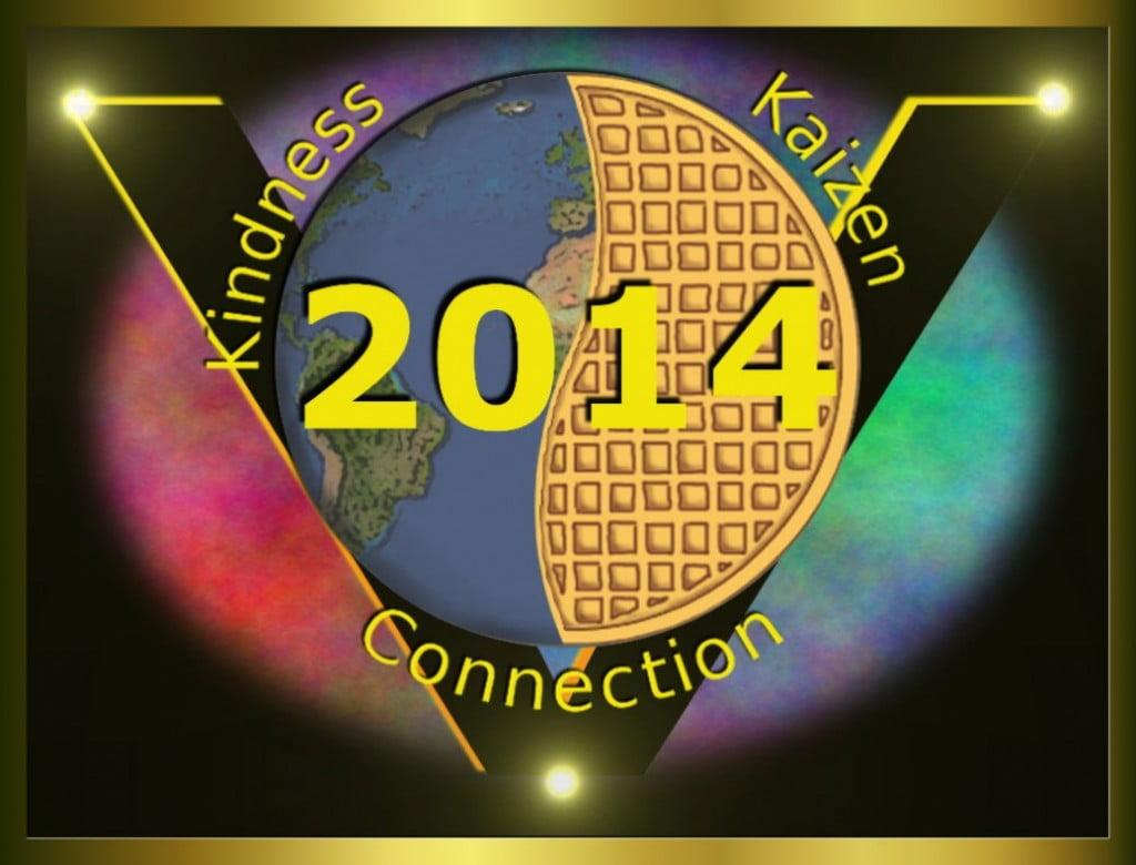 Global Vegan Waffle Party 2014 logo