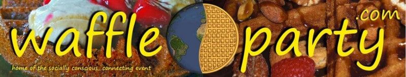 WaffleParty.com: Vegan Waffle Recipes & Events Logo