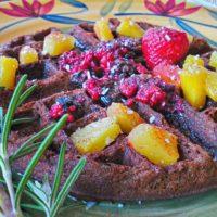 buckwheat molasses gluten-free-vegan waffle