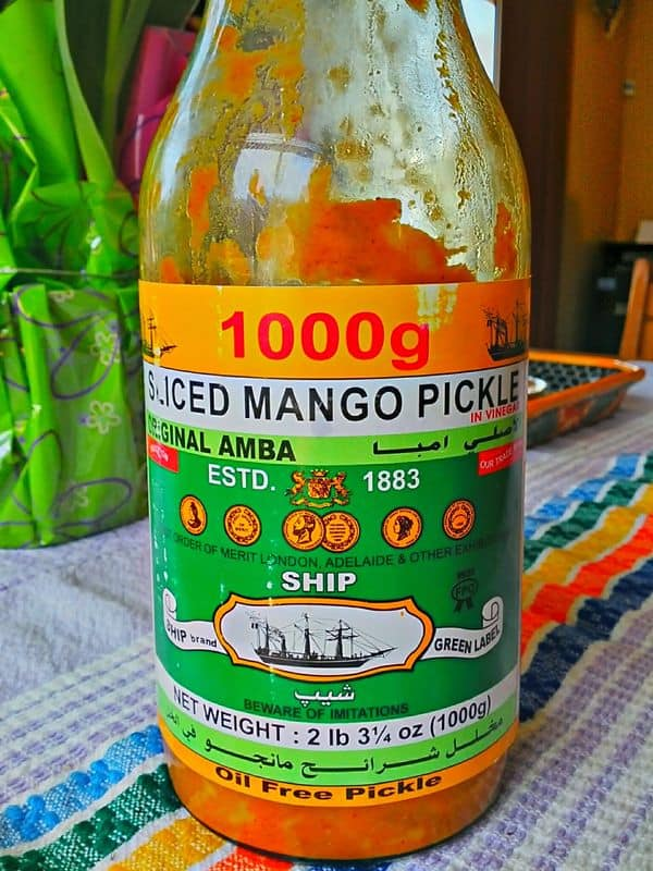 Bottle of Pickled Mango (Amba)