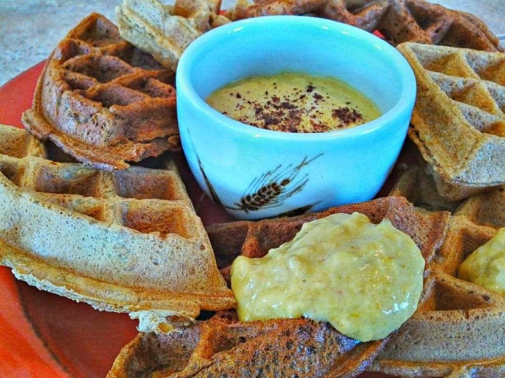 Pickled Mango Tahini Vegan Waffle Topping