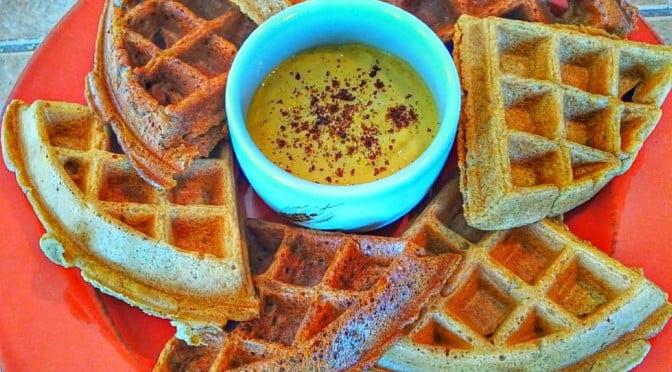 pickled-mango-tahini-vegan-waffle-topping-2