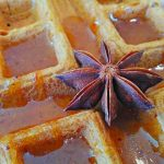 sweet-star-anise-syrup-on-naked-vegan-waffle