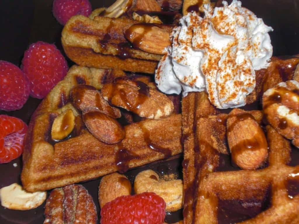 vegan-waffle-sweet-yeast-raised-chocolate-fruit-nuts-3