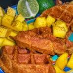 Mango-Chili Vegan Waffles