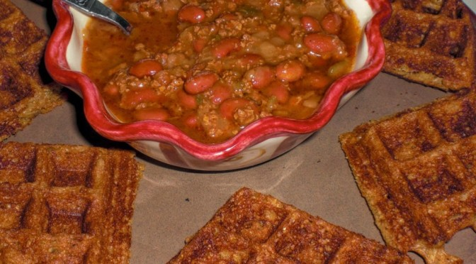 Yeast-Raised Cornmeal Chili Dippin' Vegan Waffles Recipe