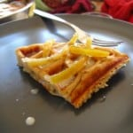 James' Belgian Waffle with Coriander Coconut Cream and Mango Chutney