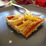 James' Belgian Waffle with Coriander Coconut Cream and Mango Chutney