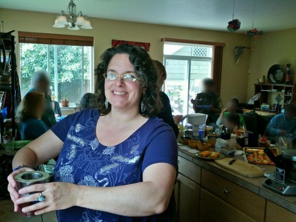 Meg at vegan waffle party 2014