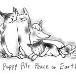 Puppy Pile Peace on Earth, by Kristen Reynolds, from The Snuggle Party Guidebook