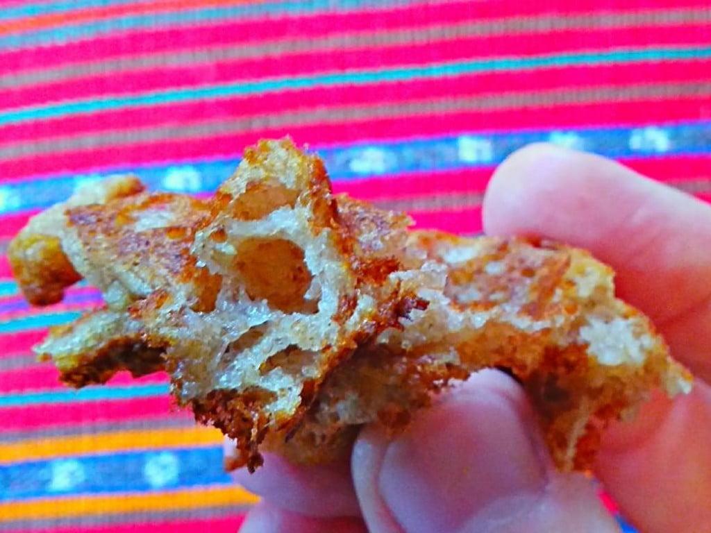 48-hour yeasted vegan waffle--fluffy inside, crispy outside