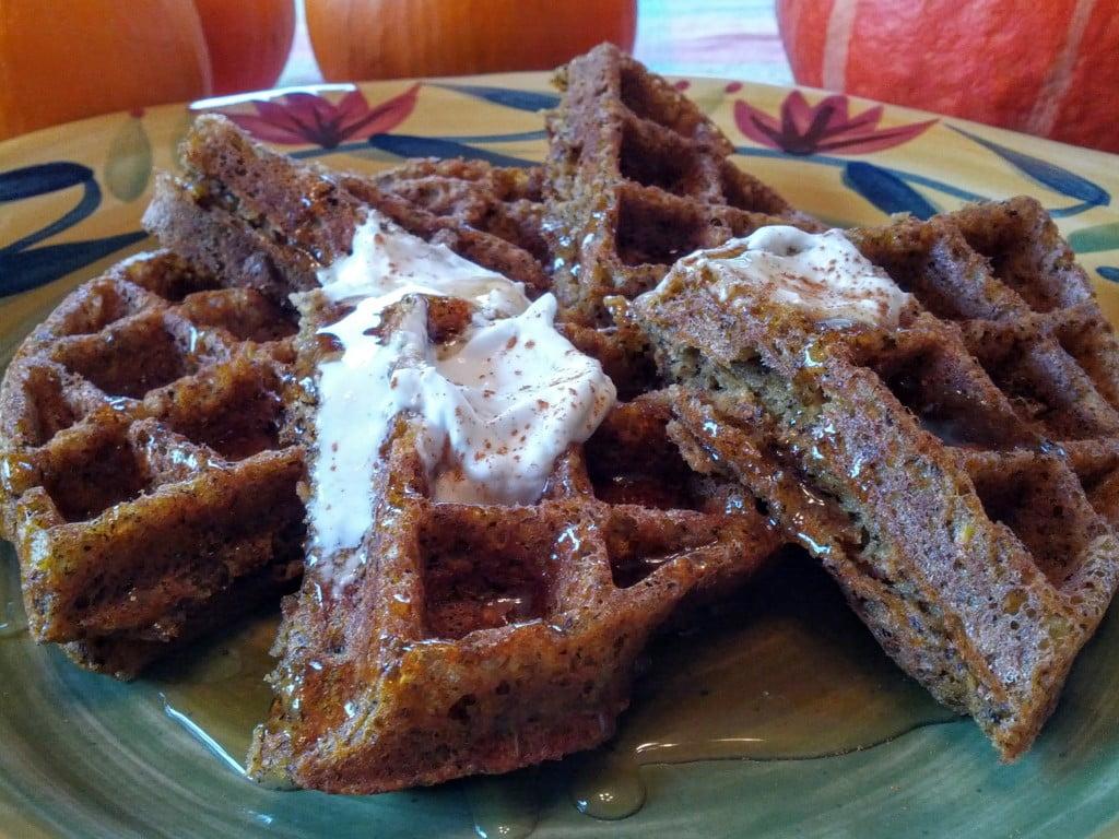 pumpkin buckwheat vegan gluten-free waffles 1