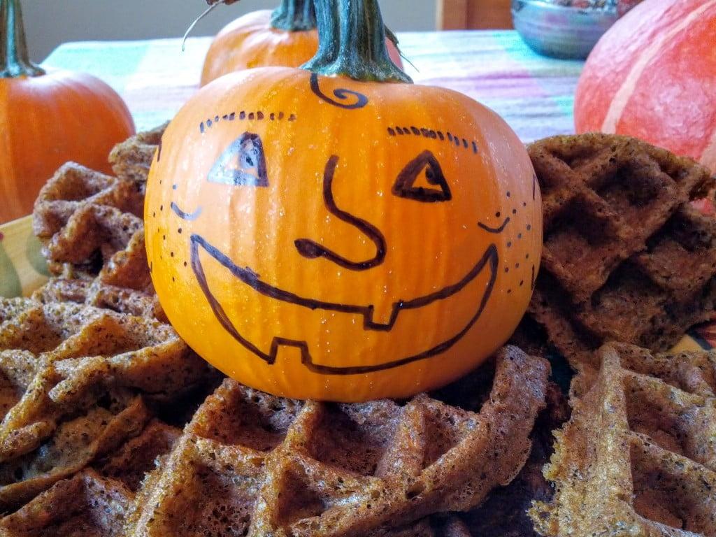 pumpkin buckwheat vegan gluten-free waffles 3