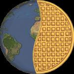 vegan waffle globe 512px