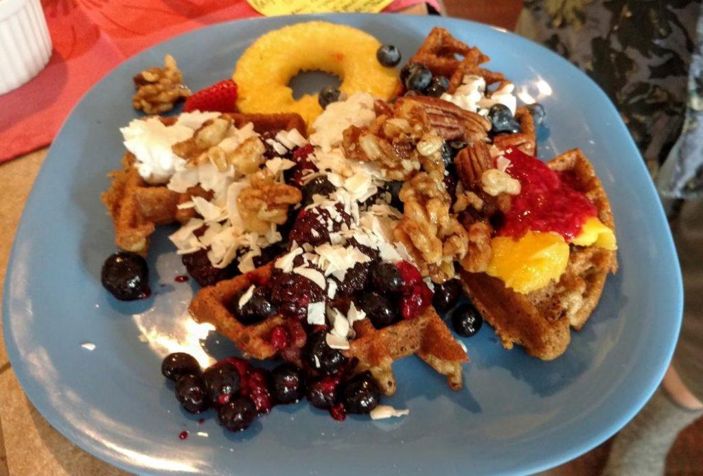 vegan deluxe dessert waffles