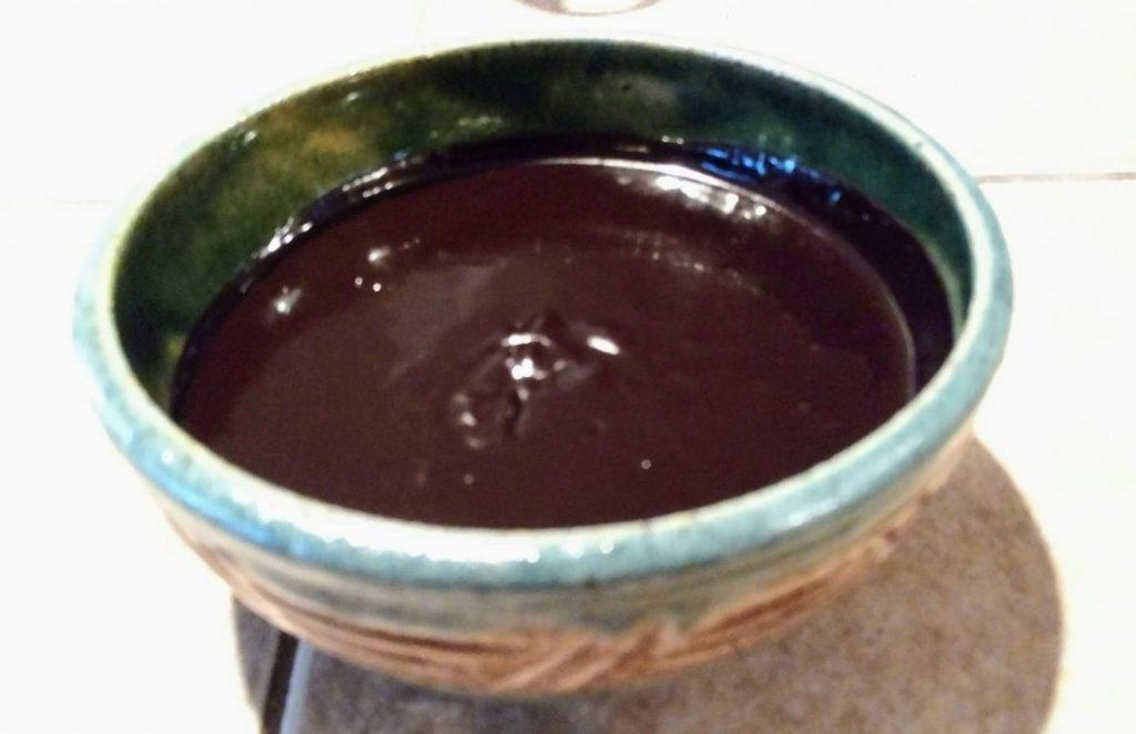 vegan dark chocolate waffle syrup