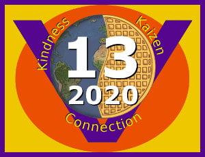 Global Vegan Waffle Party 2020 logo, 300px