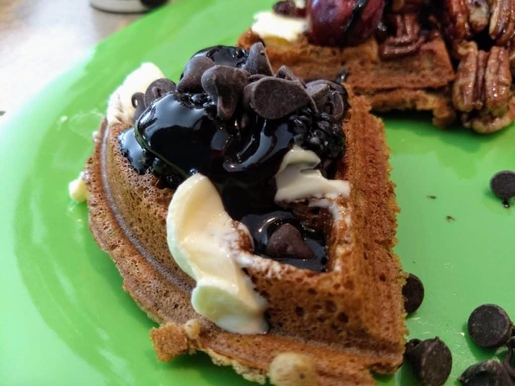 vegan waffles for chocolate lovers at waffle party