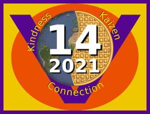 Global Vegan Waffle Party 2021 logo, 300px